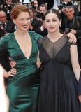 Lea Seydoux et Amira Casar Photo libre de droits