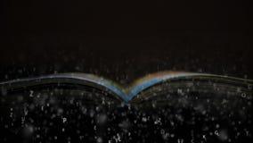 Lea un libro interesante Libro y letras stock de ilustración