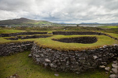Leacanabuaile ring fort, Kerry, Ireland Stock Photos