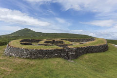 Leacanabuile Stone Fort - Cahirsiveen - Ireland stock photos
