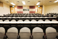 Leacture room with many chairs Stock Photography