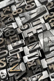 Lead. Letters typeset composite - close up Royalty Free Stock Photography