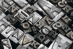 Lead. Letters typeset composite - close up Royalty Free Stock Photos
