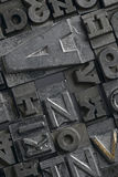 Lead. Letters typeset composite - close up Stock Images