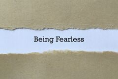 Being fearless on paper