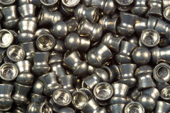 Lead Air Gun Pellets. Macro shot of Lead Air Gun Pellets royalty free stock photo