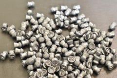Lead bullets for Pneumatics. stock photos