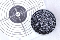 Lead bullets on target Royalty Free Stock Images
