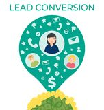 Lead conversion vector flat illustration stock illustration
