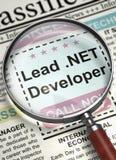 lead El desarrollador NETO se une a nuestro equipo 3d imágenes de archivo libres de regalías