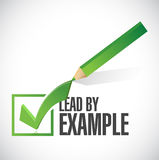 Lead by example check mark illustration design Royalty Free Stock Image