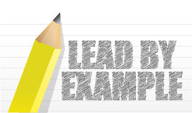 Lead by example message Stock Images