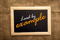 Lead by example Royalty Free Stock Image