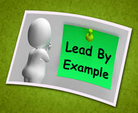 Lead By Example Photo Means Mentor And Inspire Royalty Free Stock Photos