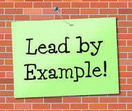 Lead By Example Shows Influence Led And Authority Royalty Free Stock Images