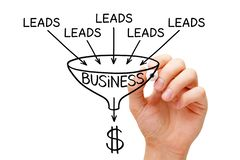 Free Lead Generation Business Sales Funnel Concept Royalty Free Stock Image - 136371196