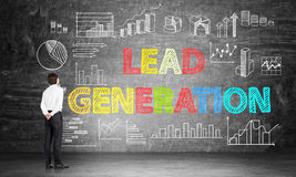Lead generation concept on chalkboard Royalty Free Stock Photo