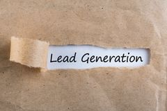 Lead Generation Concept - message in uncover letter.  Stock Images