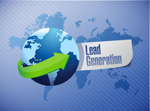 Lead generation globe sign illustration Royalty Free Stock Photo