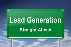 Lead generation sign Royalty Free Stock Images