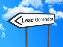 Lead generation sign Stock Photos