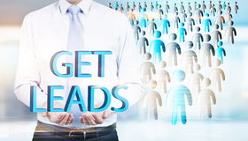 Lead generation staff icons Royalty Free Stock Photos