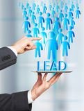 Lead generation tablet Royalty Free Stock Photography