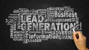 Lead generation word cloud Stock Images
