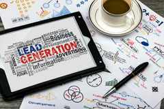 Lead generation word cloud. With related tags Stock Photo
