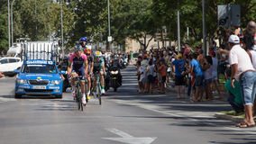 Lead group of Vuelta de España - Spanish Tour Royalty Free Stock Photos