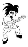 Lead Guitar Uncolored Royalty Free Stock Image