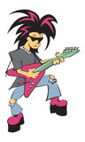 Lead Guitarist. A vector illustration of a lead guitarist Royalty Free Stock Image