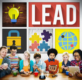 Lead Leadership Management Support Team Concept stock photography