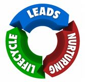 Lead Lifecycle System Sales Funnel Nurturing. 3d Illustration Royalty Free Stock Image