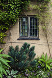 Lead lined window. An old lead lined window on an old English manor House Stock Images