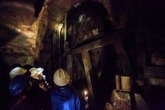 Lead mine water pump wheel stock image