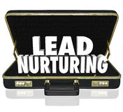 Lead Nurturing Briefcase Sales Campaign Educating Customers Pros Royalty Free Stock Image