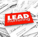 Lead Nurturing Business Cards Sales Funnel Prospects Customers Royalty Free Stock Photos