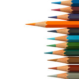 Lead orange color pencil Royalty Free Stock Photos