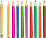 Lead pencil and color pencils Stock Photo