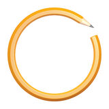 Lead pencil in the form of a circle Royalty Free Stock Photography