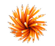 Lead pencils. Over the white Royalty Free Stock Photography