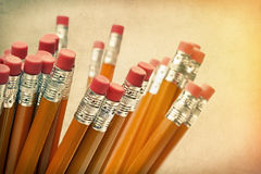 Lead pencils against a vintage  background Stock Photo