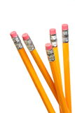 Lead pencils with red eraser. On white background Royalty Free Stock Photography