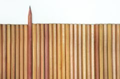 Lead pencils on white Stock Photos