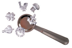 Lead pouring set Royalty Free Stock Photo
