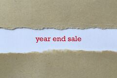 Year end sale on paper