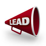 Lead - Red Bullhorn Royalty Free Stock Image