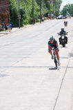 Lead Rider at Stillwater Criterium Stock Image