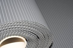 Lead Roll. An outstreched rippled roll of lead Royalty Free Stock Images